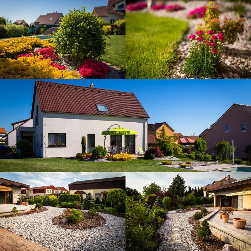 Fotografování zahrad pro zahradnickou firmu.