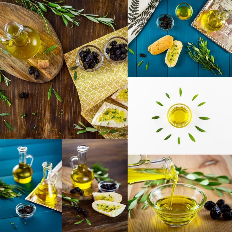 Food foto olivového oleje z Řecka.