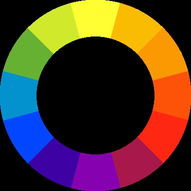 Barevný kruh.