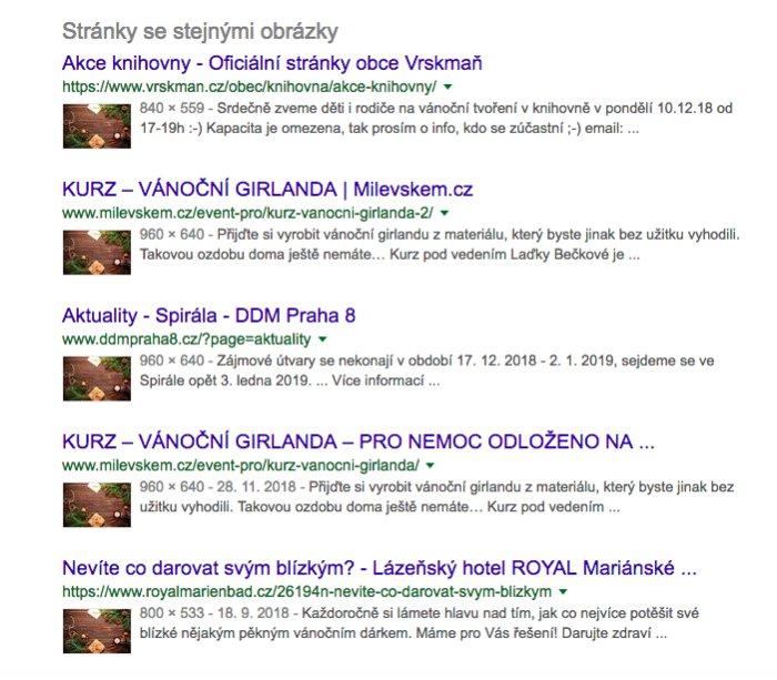 Vysledky vyhledávání obrázku v Google Images.