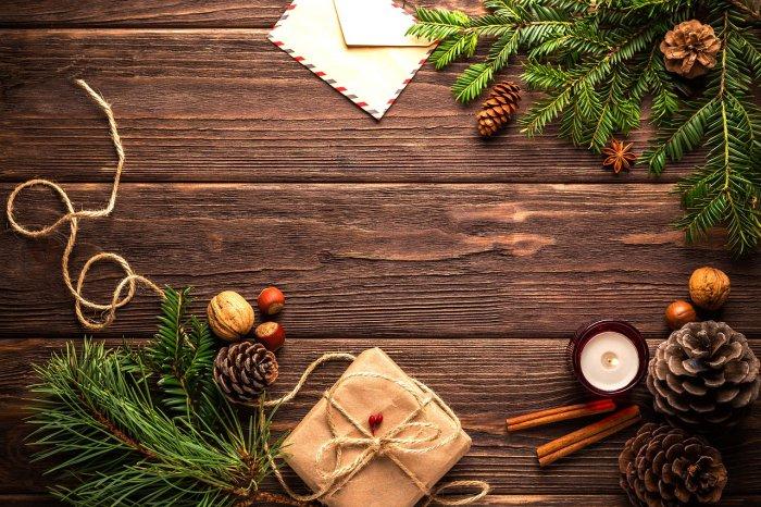 Fotografie s vánoční tematikou.