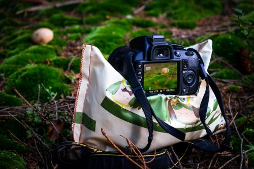 Homemade mini stativ pro fotoaparát.