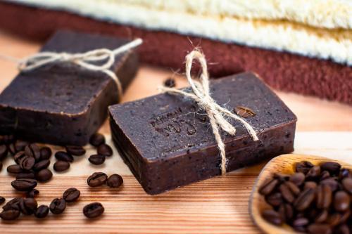 Homemade čokoládové mýdlo.