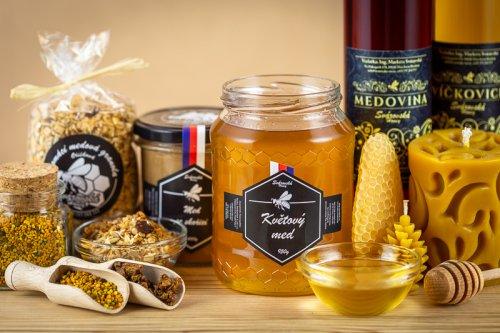 Medové produkty.