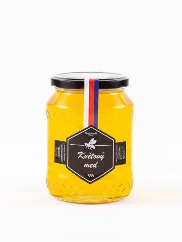 Produktová fotografie květového medu.